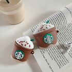 Starbuck Cream Cup Silicone Earphone Protector Case for Apple AirPods 12 Pro TPU