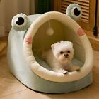 Soft Pet Dog Cat House Bed Tent Kennel Cushion Mat Removable Indoor Frog Shape