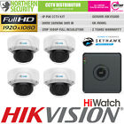 HiLook CCTV HD 1080P 2MP Night Vision Outdoor POE IP Home Security System Kit
