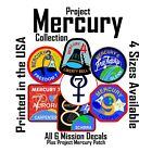 Project Mercury 7 tribute. All NASA Mission patches as Decals Stickers