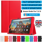 'For Amazon Kindle Fire Hd 7 8 10 All 2015-2019 Pu Leather Flip Case/cover Stand