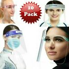 Gesicht Shield Voll Visier Brille Schutz Maske Ppe Transparent Pack 10
