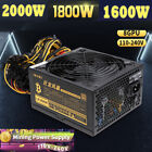 2000W 1800 Modular Mining Power Supply for 8 Graphics Card Eth Rig Ethereum Coin