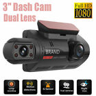 "3"" HD 1080P Dual Lens Dash Cam Car DVR Front  Inside Camera Video Night Vision"