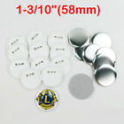 "1-3/10"" 58mm Blank Metal / ABS Pin Badge Button Supplies for Badge Maker Machine"