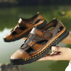 Men's Summer Closed Toe Wading Sandals Hiking Sport Casual Leather Beach Shoes