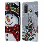 OFFICIAL CHRISTMAS MIX SNOWMAN LEATHER BOOK WALLET CASE FOR SAMSUNG PHONES 1
