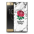 OFFICIAL ENGLAND RUGBY UNION MARBLE BLACK SOFT GEL CASE FOR SONY PHONES