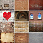 Retro Red Brick Wall Background Photographic Backdrop Party Decor 5x3ft 7x5ft