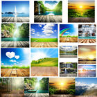 Nature View Wood Floor Background Cloth Photography Backdrop Props