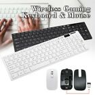 Slim 2.4GHz Wireless Keyboard  Mouse Set USB Receiver For Desktop PC Laptop