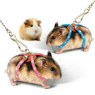 Adjustable Pet Mouse Hamster Harness Rope Lead Leash with Bell Pet Supplies