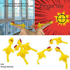 Novelty Funny Sticky Flying Rubber Sling Shot Chicken Flying Finger Toys