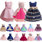 Kids Girls Flower Princess Dress Party Formal Wedding Bridesmaid Gown Tutu Dress