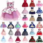 Kids Baby Girls Flower Midi Dress Party Wedding Bridesmaid Princess Tutu Dress