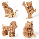 Kids Teen 3D Puzzle DIY Animal Toy Model Wooden Craft Jigsaw Puzzle Desk Decor