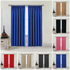Thick Thermal Blackout Curtains Pencil Pleat Ready Made Pair Curtains Panel