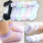 Baby Girls Kids Socks Cotton Lace Breathable Socks Frilly Ankle Socks New