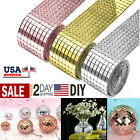 Roll Mirror Glass Mosaic Tiles Self Adhesive Wall Sticker Decal Home Decoration