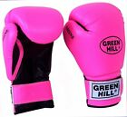 Greenhill Boxing Gloves Shine Pink Junior Girls Kids Training Punch Bag Pad MMA