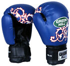 Greenhill boxing gloves boom design sparring training junior kids red blue 10 oz