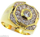 Champions Simulated Diamond St. 18kt Gold Plated Ring