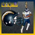 NFL SAN DIEGO CHARGERS FIGURE & CHOICE OF HELMET/FOOTBALL CAP CEILING FAN PULLS $16.99 USD on eBay