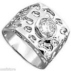 2.3ct Clear Round CZ Stone Rhodium EP Mens  Ring
