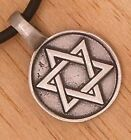 Star of David Solomon Hexagram Jew Jewish Judaism Israel Israeli PEWTER PENDANT