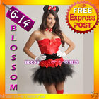 M257 Minnie Mouse Fancy Dress Costume Corset Tutu S-XL