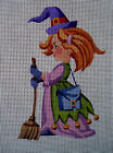 """Needlepoint canvas """"Cute Witch"""""""