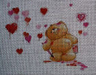"Needlepoint canvas ""Bear in Love"""