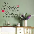 Wall Art Sticker Quote Kitchen Heart, Decal Vinyl