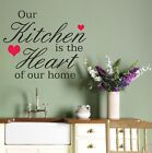 Wall Art Sticker Quote Kitchen Heart, Decal Vinyl , Text , Quotes