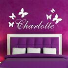 Your Name Personalised Wall Art Stickers Kids Butterfly