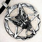 Inverted Pentacle Pentagram Lucifer Satan LaVeyan Devil Baphomet PEWTER PENDANT