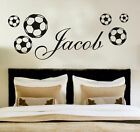 Your Name Personalised Wall Art Stickers Kids Football , Girls , Boys  , Soccer