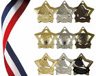 STAR MEDAL INC. RIBBON - BADMINTON, NETBALL OR TENNIS - mini star medal