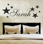 Your Name Personalised Wall Art Stickers Kids Stars , Bedroom , Custom , Text