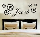 Your Name Personalised Wall Art Stickers Kids Football , Soccer , Custom , Décor