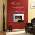 LIVE LAUGH LOVE wall quote , 3 Sizes Available N23