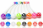 """Beach Ball Maternity Navel Ring Pregnancy Belly Retainer 14ga 2"""" Pick Color"""