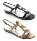 CUSHION WALK WOMENS FLAT GLADIATOR ADJUSTABLE ANKLE STRAP SIZE 3-8