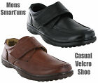 New Mens Leather Lined Soft Slip On Velcro Casual Comfort Shoes Size 6-12 UK
