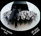 GIRLS LUXURY VELVET TUTU ZEBRA ANIMAL PRINT DANCE STAGE PAGEANT GOTH COSTUME