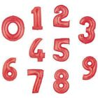 """34"""" RED FOIL SUPERSHAPE NUMBER BALLOON 0-9 AVAILABLE"""