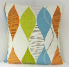 SCATTER CUSHION COVERS RETRO ORANGE GREEN BLUE 60'S DESIGN CUSHION COVERS