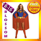 Super Hero Woman Supergirl Fancy Costume + Boot Covers