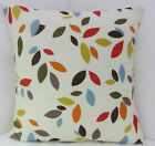 ABSTRACT ORANGE MUSTARD RED GREEN CREAM CUSHION COVERS
