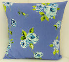 SHABBY CHIC-STYLE BLUE FLORAL CUSHION COVERS GREEN AND BLUE SCATTER COVERS